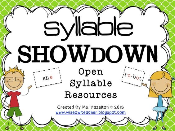 Syllable Showdown: Tons of Open Syllable Resources, Great for Fundations or Wilson Reading System. $