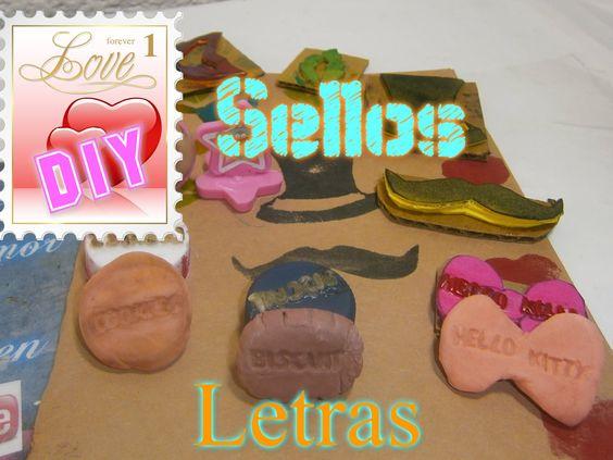 Sellos Caseros Letras y Formas Personalizados,Crea Tinta scrapbook / Hom...