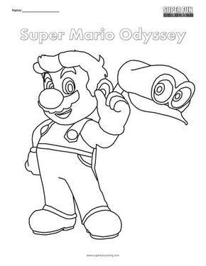 Super Mario Odyssey Nintendo Coloring Imagens Para Colorir Desenhos Para Colorir Irmaos Mario