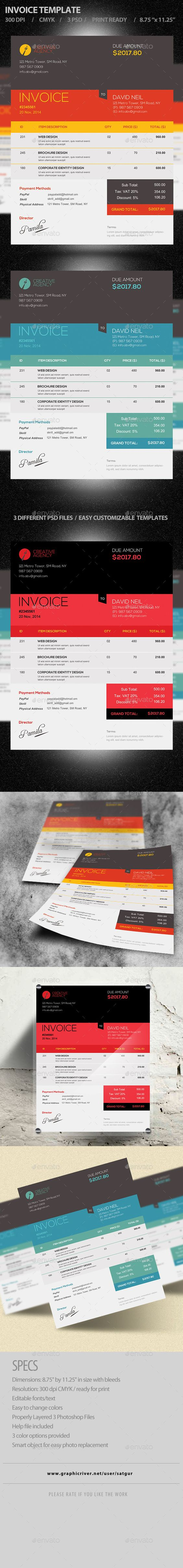 photoshop, invoice template and templates on pinterest, Invoice examples