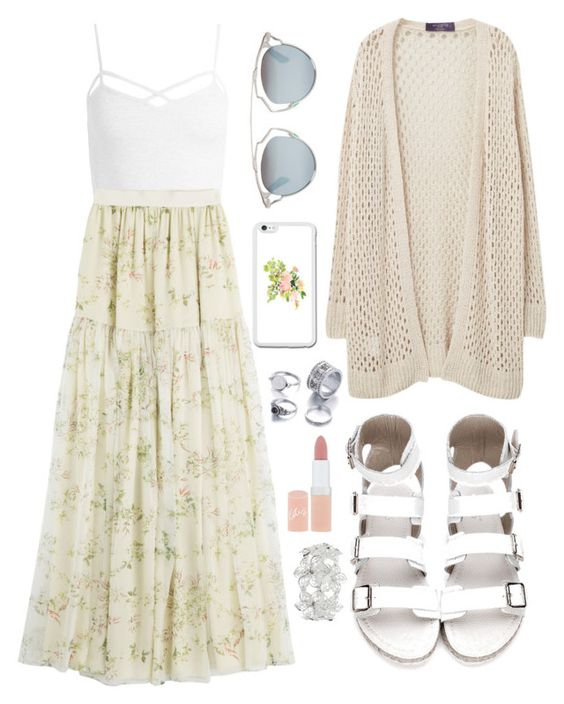 """""""Sweet Summer"""" by gracefully-artistic on Polyvore featuring Sans Souci, Giambattista Valli, Violeta by Mango, Christian Dior, Rimmel and M&Co"""