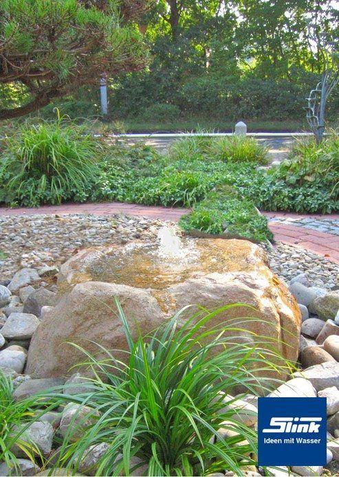 Wasserobjekt Formales Becken Mit Alumento 60 Slink Ideen Mit Wasser Gartenbrunnen Wasserspiel Garten Brunnen Garten
