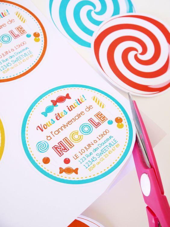 carte d'invitation anniversaire gratuite a personnaliser