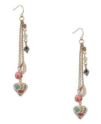 antique embellished earrings