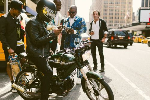 http://chicerman.com  billy-george:  Rides around NYFW  Spotted at New York Fashion Week  Photos by Driely S.  #streetstyleformen