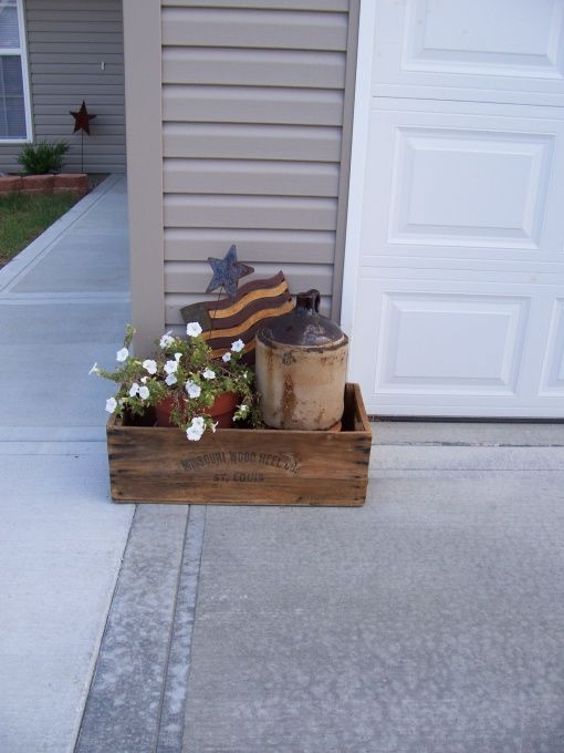 Primitive Decorating Porch, Country Outdoor Decor
