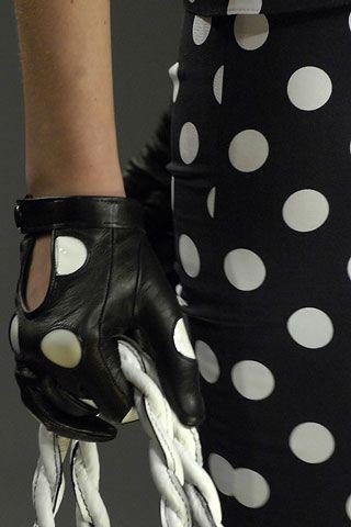 Valentino ♥✤ polka dot leather gloves: