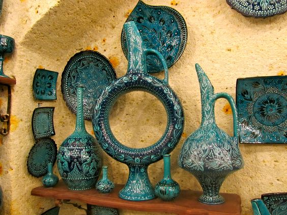 beautiful pottery in Avanos, Cappadocia, Turkey