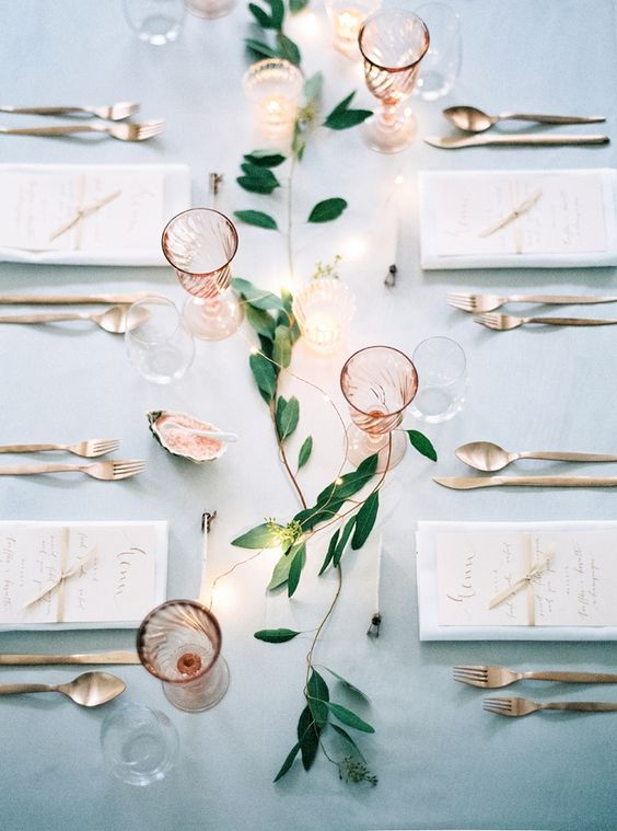 Copper peach and light blue wedding theme designed by Viktoria Antal of Lovely Weddings.