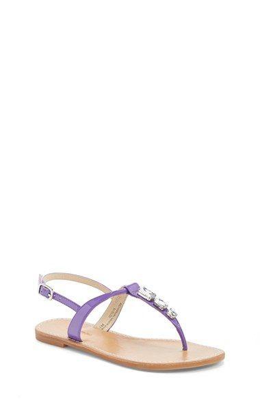 Toddler Girl's Nordstrom 'Lena' Jeweled Thong Sandal