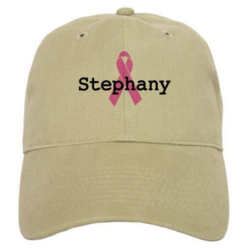 BC Awareness: Stephany Breast cancer Cap by CafePress