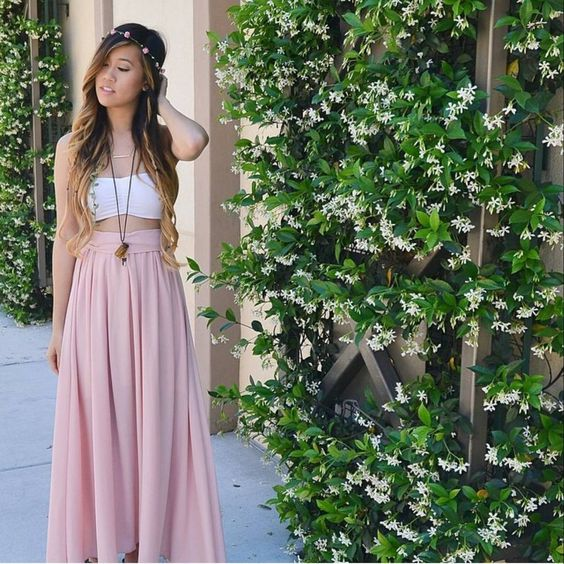 Would you wear this? Gorgeous hair and outfits by @missjoolie with #iwesrsin Butterfly Knot Maxi Skirt