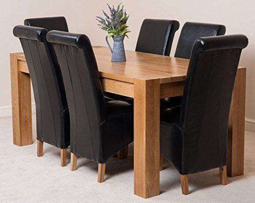 Kuba Solid Oak Dining Table With 6 Or 8 Montana Chairs B Https Www Amazon Co Uk Dp B0082m84ds Ref Oak Dining Table Oak Dining Sets Solid Oak Dining Table