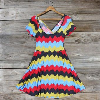Jack Creek Chevron Dress in Red...