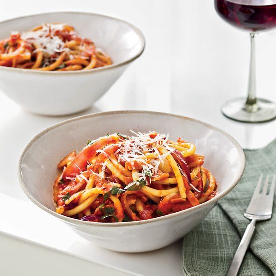Bucatini all'Amatriciana // More Terrific Italian Main Dishes: http://www.foodandwine.com/slideshows/italian-main-dishes #foodandwine