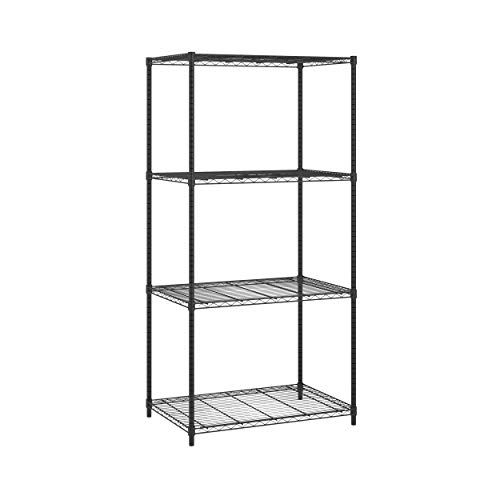 Ofm Complete 4 Shelf 36 By 72 By 24 Inch Black With Images Wire Shelving Units Wire Shelving Ofm