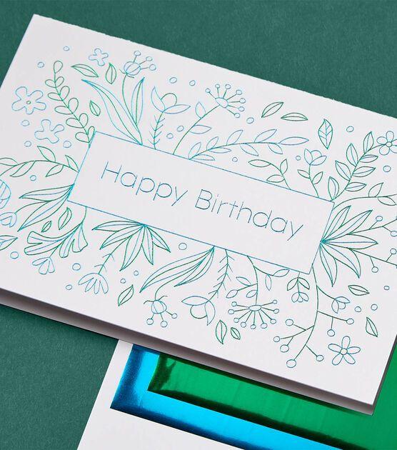 How To Make Cricut Foil Happy Birthday Card Online Joann Cricut Birthday Cards Happy Birthday Cards Happy Birthday Card Design