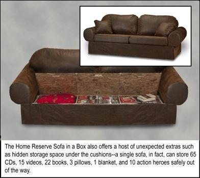 Finding extra space -- modify couch for more storage