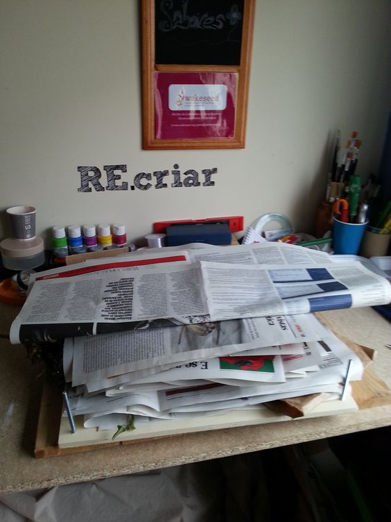 RE.criar com a natureza. Construção de um herbário para aluna de botânica.