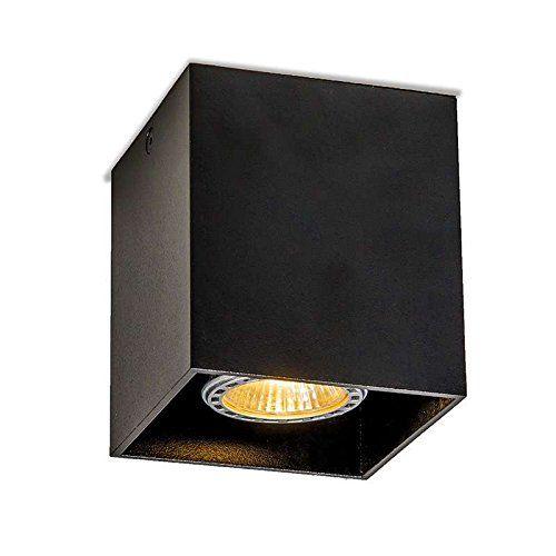 QAZQA Design, Moderne Spot Qubo 1 noir, Aluminium, Cube, ... https://www.amazon.fr Support de lampe : GU10. La source de lumière est exclue. Convient pour Halogène, LED ampoules Max. 1 x 50 Watt 83 mm x 83 mm x 95 mm ( L x l x H ) Prix au détail: €52,95