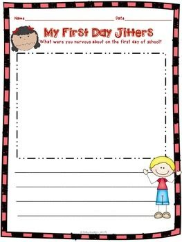 FREEBIE!! This First Day Jitters activity is included in my First Day Jitters packet. The packet includes differentiated activities to help you teach several of the Common Core Literature standards from day one.