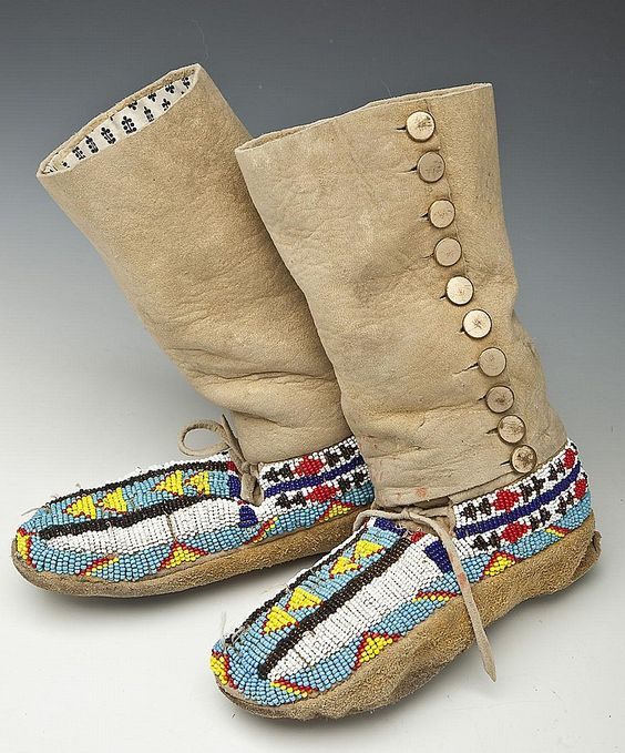 child's high top moccasins