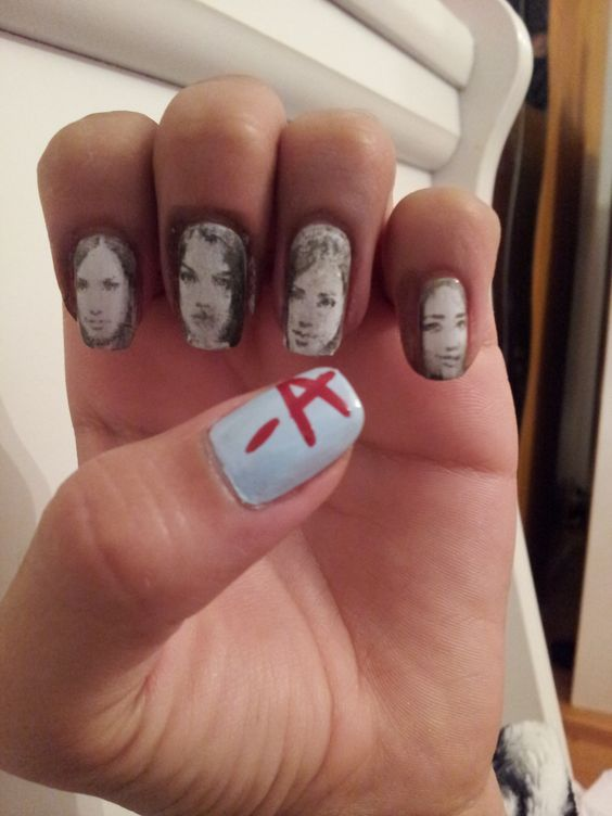 Pretty Little Liars Nails :) for more nail art like this go follow @kimiasnails on instagram: