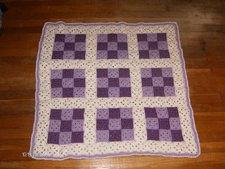 Baby Nine Patch crochet quilt