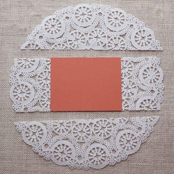 Diy tarjetas con blondas de papel y cartulinas bricolaje - Blondas de papel ...