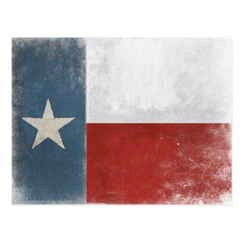 Postcard With Vintage Distressed Texas Flag Zazzle Com Postcard Vintage Postcards Photo Postcards