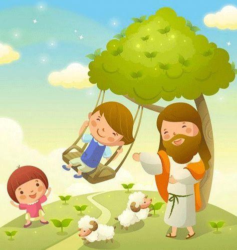 Dibujos de jesus con ni os imagenes y dibujos para for Plafones de pared infantiles