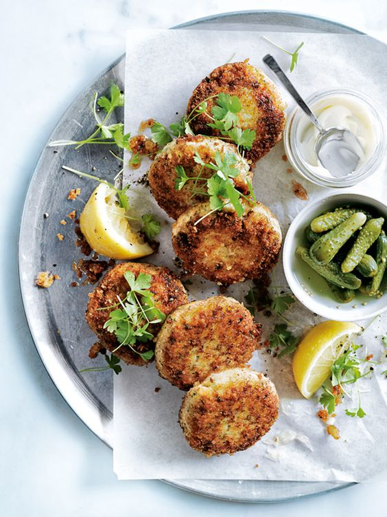 dill and butter bean fishcakes from donna hay - switch the panko breadcrumbs for GF version