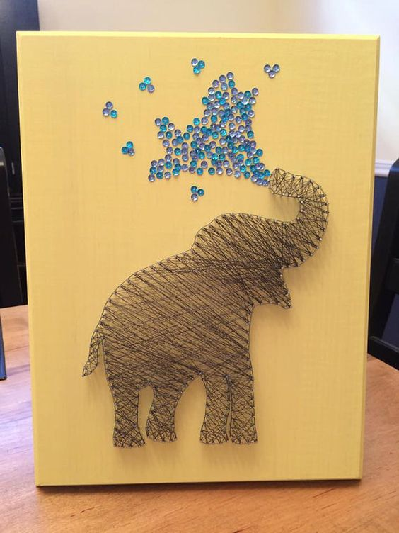 Elephant String Art - so need to make this! @pachydermsaver