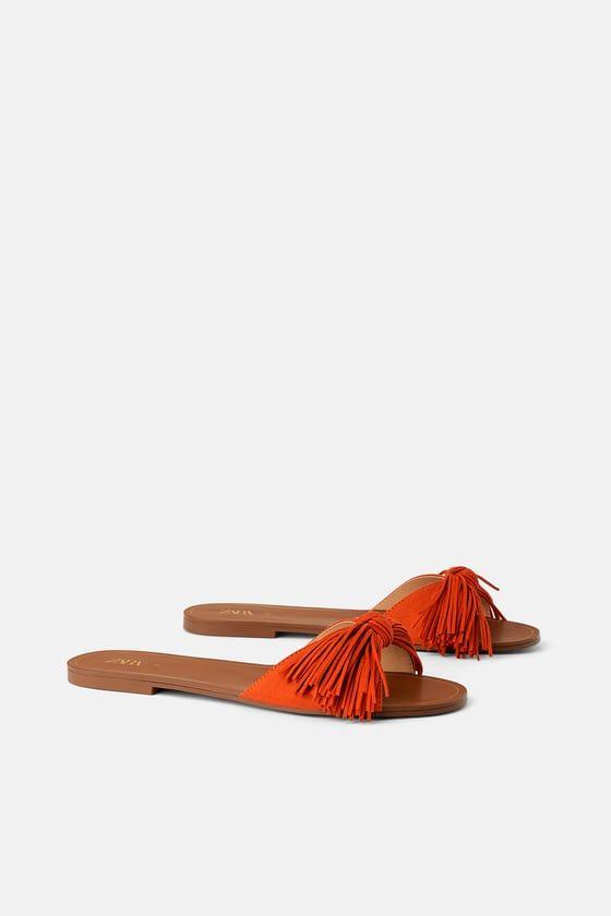 Sandalia Plana Flecos Sandals Flat Sandals Fringe Shoes