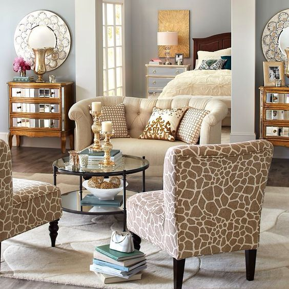 Mirrored dresser living room colors and chairs on pinterest for Pier 1 living room ideas