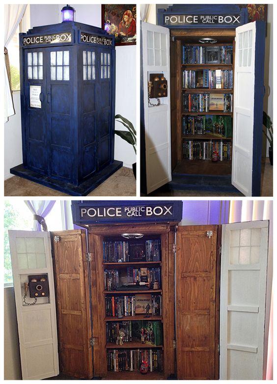 DIY TARDIS Bookshelf - Nerd Home Decor: