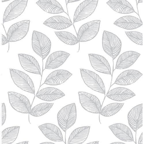Scott Living 30 75 Sq Ft Grey Vinyl Ivy Vines Self Adhesive Peel And Stick Wallpaper Lowes Com Peel And Stick Wallpaper Self Adhesive Wallpaper Accent Wallpaper
