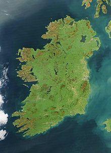 Aerial photo of Ireland.