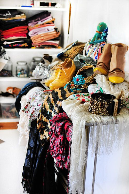 I want my closet to look like the clearance section of a store!!!!!! Messy, colorful, and plenty to wear!