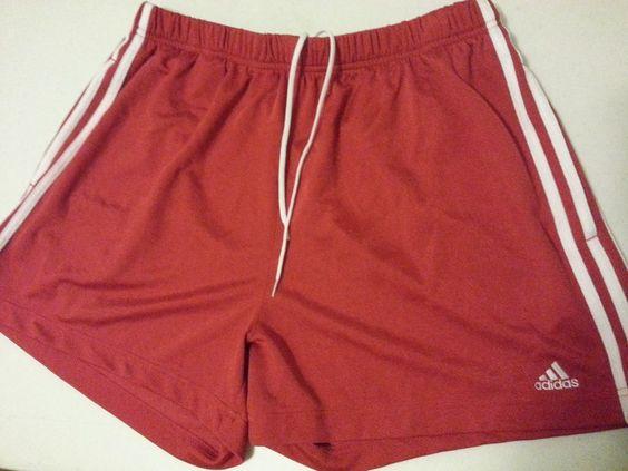 Men's Adidas Shorts Sportswear XL Red 100% Polyester Swimmer Athletic Pleated  #adidas #Athletic #ebay #adidas #Athletic