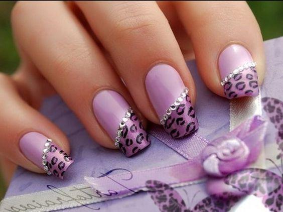 #Purple #Nails #uñas color #purpura #indigo #morado #violeta