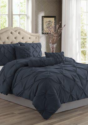 Grey Swift Home Premium Collection 2-Piece Pintuck Comforter Set Twin
