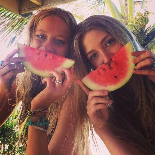 Watermelon on a summer's day :) It refreshes you and cools you down. Not to mention it's so juicy and yummy.