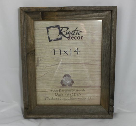 11x14 rustic barn wood signature wall frame