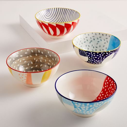 Hand Painted Pattern Pop Bowls Large Hand Painted Hand