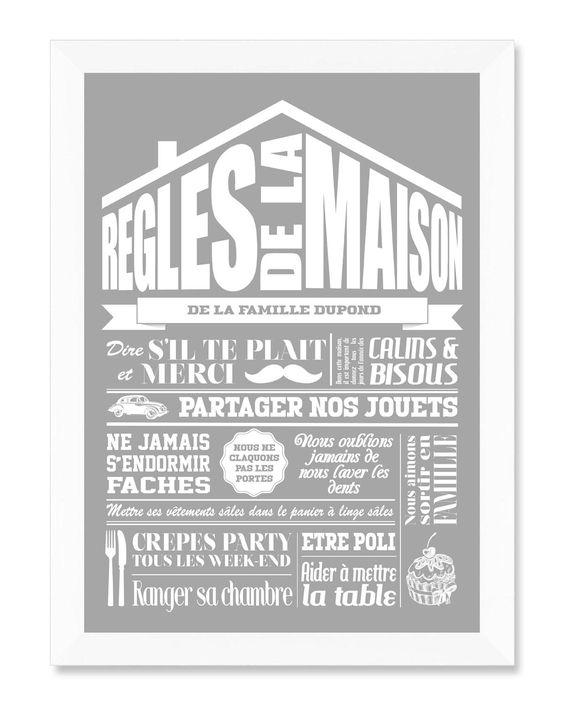 Pinterest the world s catalog of ideas - Cadre les regles de la maison ...