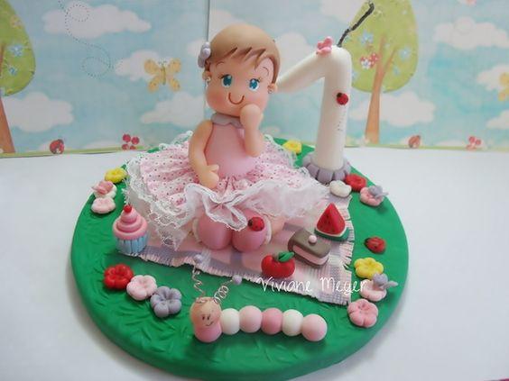 enfeite de bolo com vela Festa do Jardim