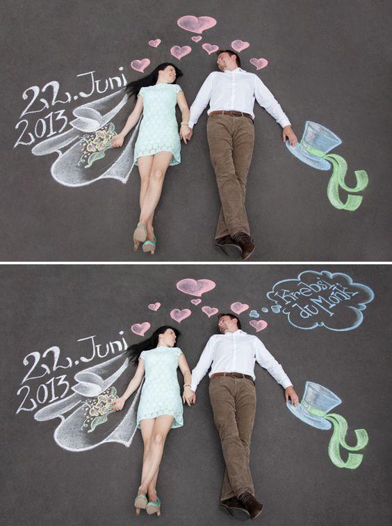 Ein Foto für die #Hochzeit mal anders Inspirationssonntag: Save The Date Fun