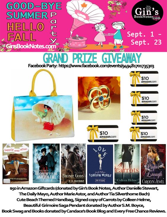 Gin's Book Notes Good-Bye Summer Hello Fall Grand-Prize-Giveaway