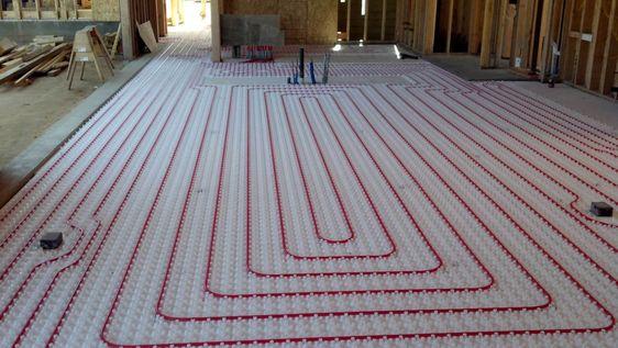 radiant heat flooring installation example